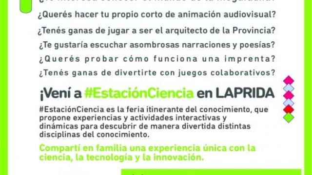 """""""Estación Ciencia"""" llega a Laprida"""