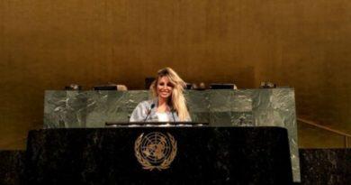 Vicky Xipolitakis llegó a la ONU
