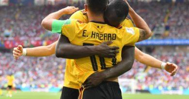 Bélgica goleó 5-2 a Túnez y avanzó a los octavos de final