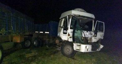 Chocaron dos camiones en la RN Nº3, no se registraron heridos de gravedad
