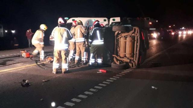 Ruta 205: un muerto y dos heridos graves