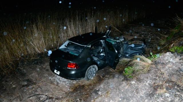 Ruta Nº 51: accidente múltiple y dos heridos de gravedad