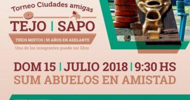 """Se viene la 3º fecha del Torneo Regional de Tejo y Sapo """"Ciudades Amigas"""""""