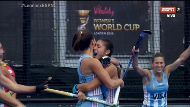 Video: el golazo de Paula Ortíz en el debut mundialista de Las Leonas