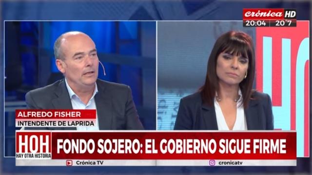 En una entrevista por Crónica TV, Fisher habló sobre el fondo sojero