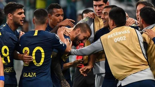 El plantel de Boca estalló con el pase a la final y ya puso la mira en el Superclásico