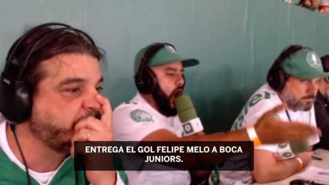 """""""¡Entregó el juego!"""": el show de un relator brasileño contra Felipe Melo"""