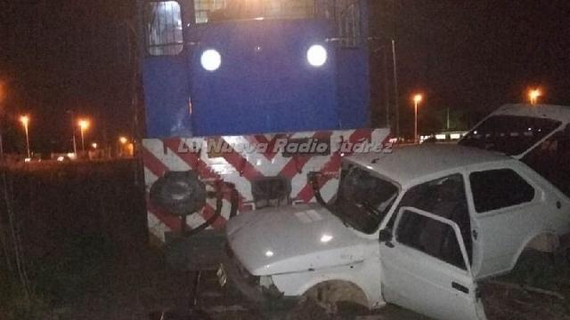 Coronel Suárez: Un tren de pasajeros embistió a un Fiat 147