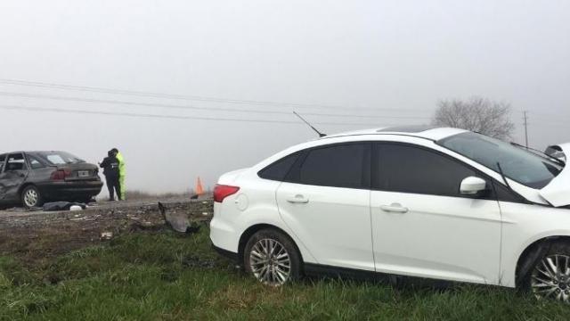 Un muerto y dos heridos tras un choque múltiple en la Ruta Nº 205